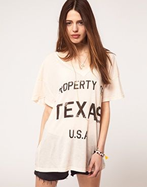 Wildfox Property Of Texas T-Shirt-- perfect for camp, cause no one will have to ask where you are from