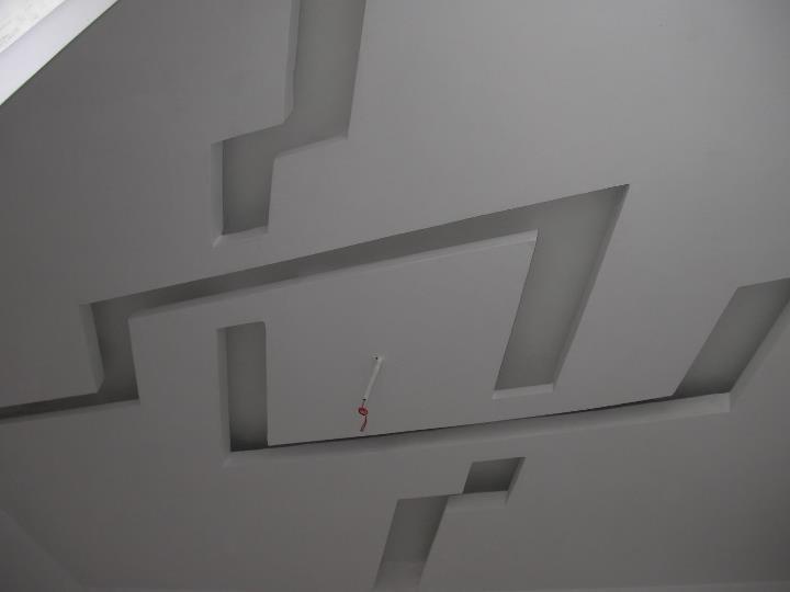 Bedroom False Ceiling Design - Rhombus Knot (Pre-painted)