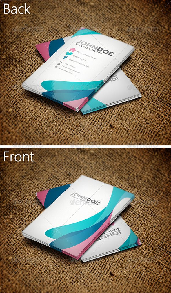 Colorful Business Card 3  • Click here to download ! http://graphicriver.net/item/colorful-business-card-3/3572214?s_rank=14&ref=pxcr