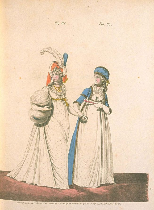 Afternoon Dress, January 1796, Gallery of Fashion