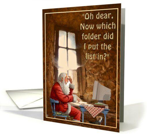 Forgetful Santa card (311412)