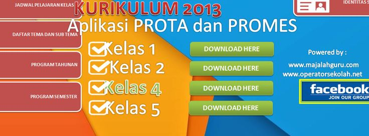 [.xls otomatis] Software Prota Promes Kelas 4 Aplikasi Excel Free Download