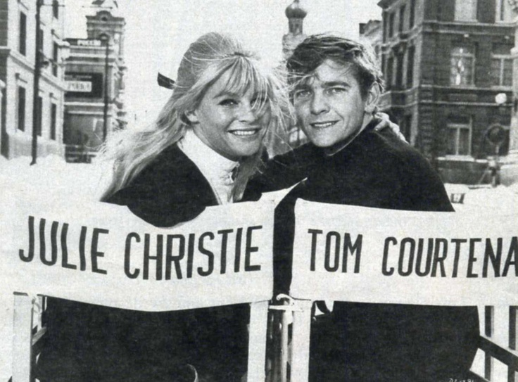 "Julie Christie y Tom Courtenay en el rodaje de ""Doctor Zhivago"", 1965"