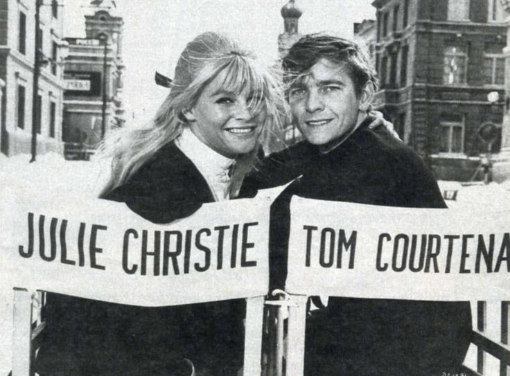 Julie Christie y Tom Courtenay en el rodaje de Doctor Zhivago, 1965