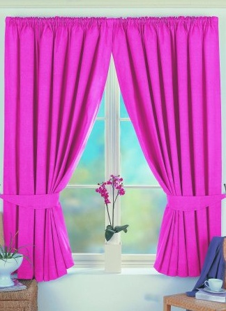 Norfolk Pink Lined Curtains