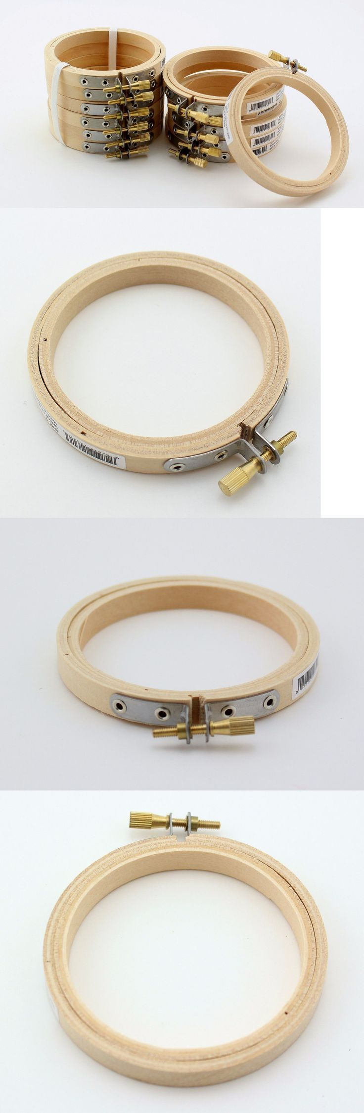 Small Round Wooden Embroidery Hoops 4 Inch Bulk Wholesale 12 Pieces