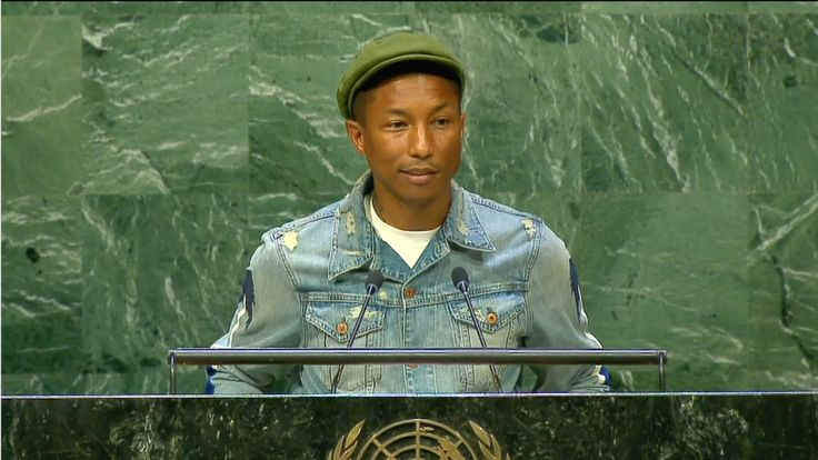 Pharrell Williams celebrates the 2015 International Day of Happiness with a visit to Google for a Q&A with Lynn Hirschberg, a lighting ceremony at the Empire State Building, and a trip to the United Nations to speak to students with climate experts Sylvia Earle and Philippe Cousteau to discuss creating a happy planet through Climate Action. The International Day of Happiness is celebrated each year on March 20th, in partnership with the UN Foundation for a healthy, happy planet.