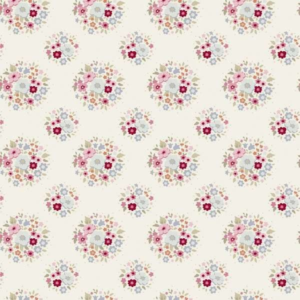 Tilda Sweetheart Fabric - Thula - Red Pink - Tilda Sweetheart - Tilda Collections - Tilda Crafts