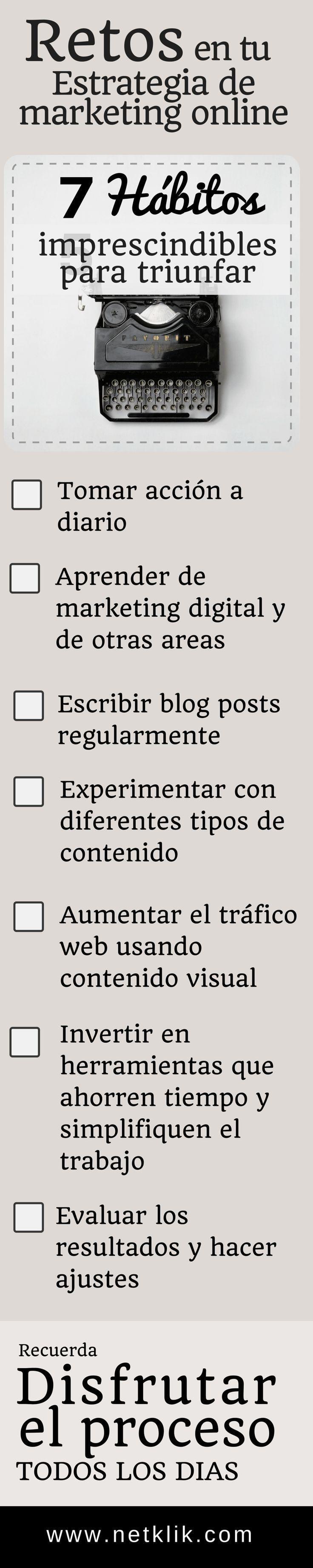 estrategias de marketing online checklist