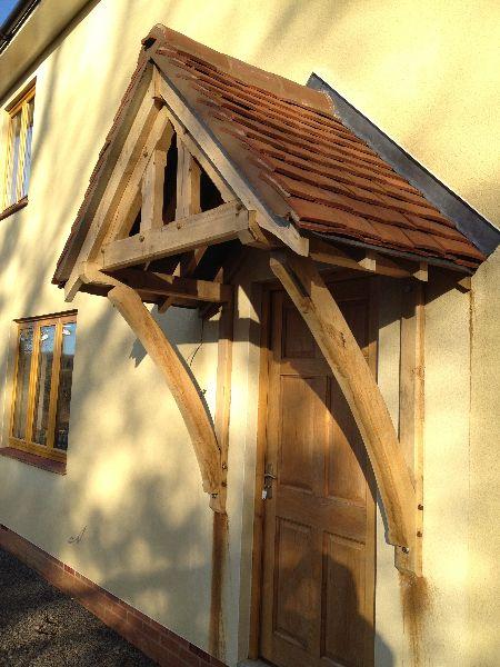 Beautiful Oak Porch Canopy http://www.hortusligneous.co.uk/portfolio_item/porches/