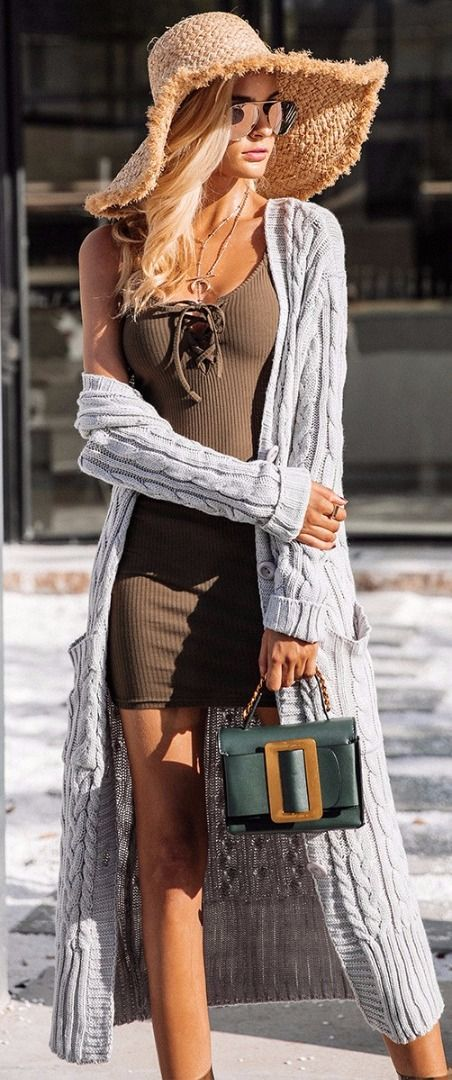 What could be better than to wear a long knit cardi when the cold weather hits. Pair it with anything in your closet from a mini dress to your favorite high-waist