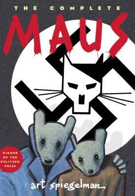 """Maus by Art Spiegelman   Goodreads description: """"The complete story of Vladek Spiegelman and his wife, living and surviving in Hitler's Europe. By addressing the horror of the Holocaust through cartoons, the author captures the everyday reality of fear and is able to explore the guilt, relief and extraordinary sensation of survival - and how the children of survivors are in their own way affected by the trials of their parents. A contemporary classic of immeasurable significance."""""""