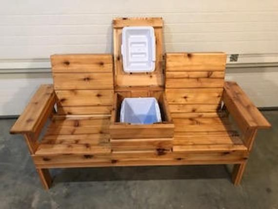 Double Adirondack Chair With Cooler Local Pickup Or