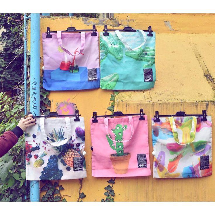 Colortherapy 🌈 #funny #colourful #print #totebag #collection #szputnyikshop #szputnyik #budapest #rainbow #chemistry #popsicles #cactus #beach #crocodile #bag #accessories #colourtherapy