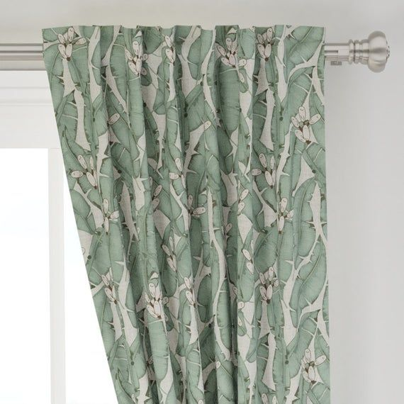 Tropical Curtain Panel Zarah Tropical By Holli Zollinger