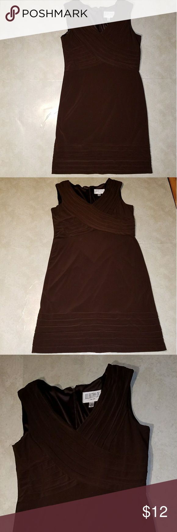 """Julian Taylor New York Brown Cocktail Dress Sz 12 ~Julian Taylor New York Brown Cocktail Dress  ~Size: 12 ~Measurements: Bust: 32"""" (laid flat then doubled) 