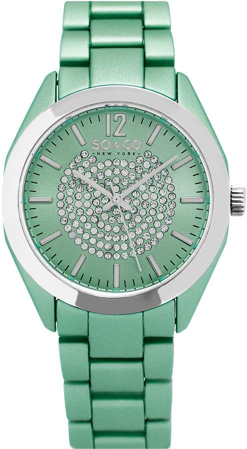 SO & CO So & Co Womens Green Bracelet Watch-Jp15892