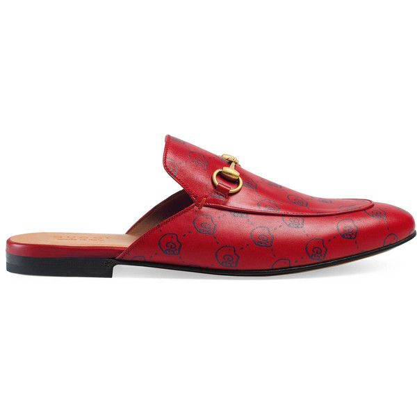 Gucci Guccighost Princetown Slipper (2.000 BRL) ❤ liked on Polyvore featuring men's fashion, men's shoes, men's slippers, shoes, men, slides, mens leather sole shoes, mens leopard print shoes, gucci mens slippers and gucci mens shoes
