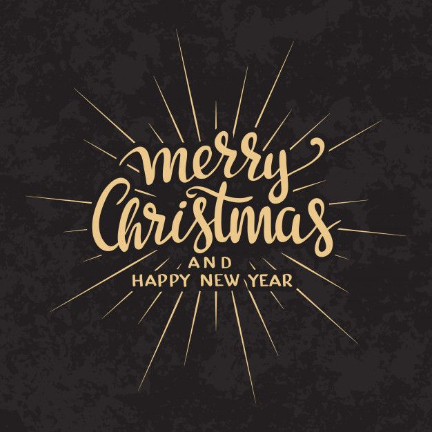 Merry Christmas text Calligraphic Lettering design card template ...