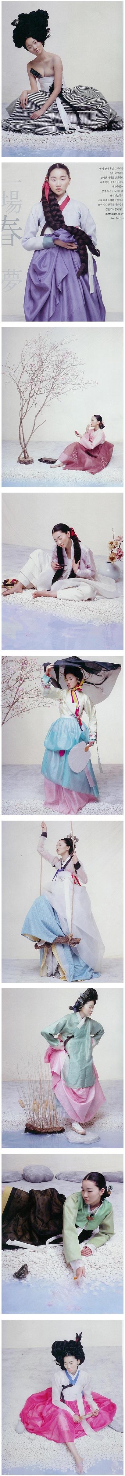 Topmodel Y.J Jang in beautiful hanbok styles...