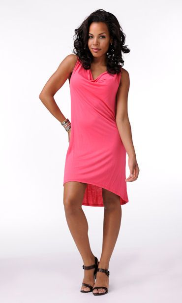 Elegantly Styled Cowl Neck Dress  Price: $44.99