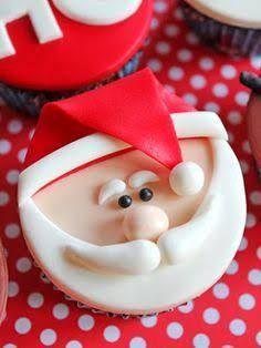 Resultado de imagen para cupcakes papai noel