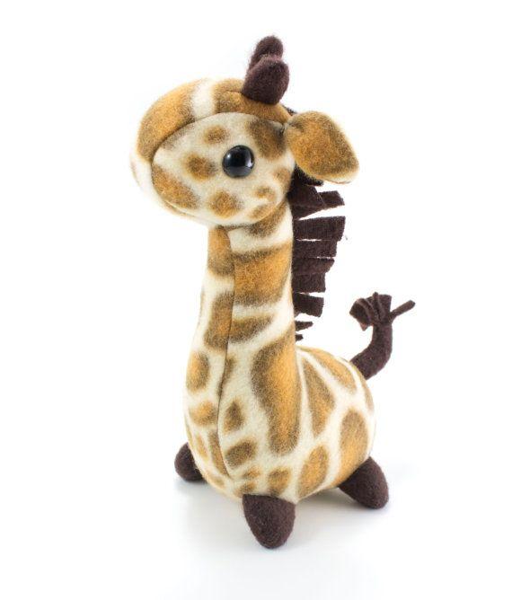Pudgy Giraffe Stuffed Animal Sewing Pattern Plush Toy by BeeZeeArt