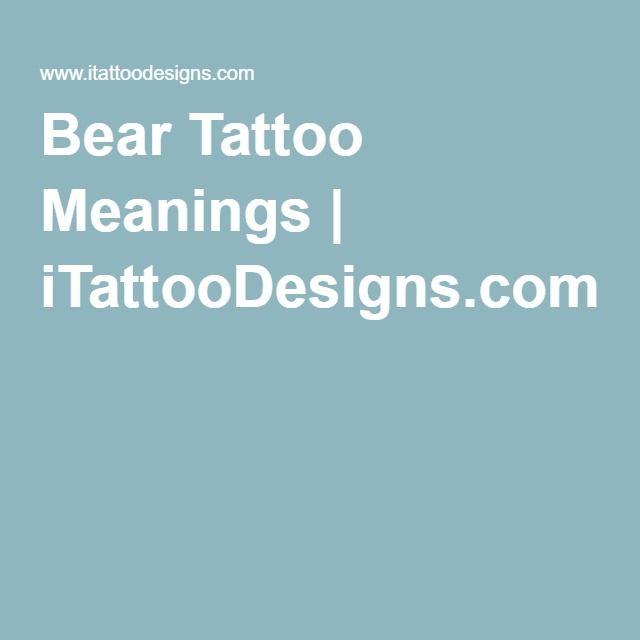 Bear Tattoo Meanings | iTattooDesigns.com