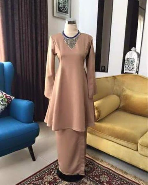 DIY Baju Kurung Moden Princess Cut