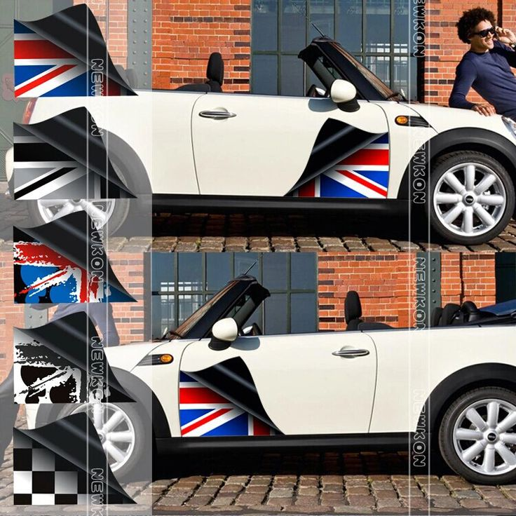Mini cooper sticker on car decal high definition printing engraving countryman paceman union jack door stickers