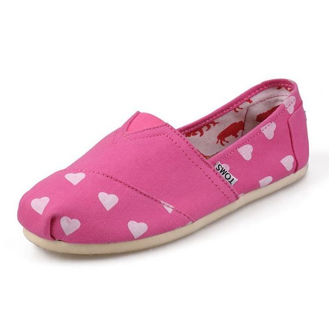 New Arrival Toms women shoes Heart-shaped pink