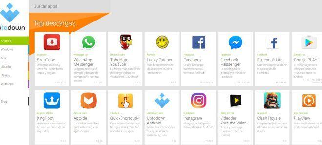 Las aplicaciones de Android más descargadas en Uptodown.com en 2017. TubeMate da la sorpresa