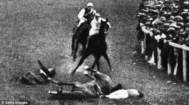 1913    Protesting suffragette Emily Davison was killed after diving under the rails and throwing herself in front of the King's horse, Anmer