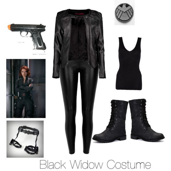 How to make a marvel black widow costume - photo#20