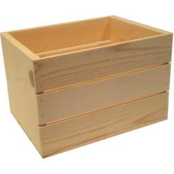 Small 14-inch Wooden Crate | Overstock.com Shopping - Great Deals on Other Storage