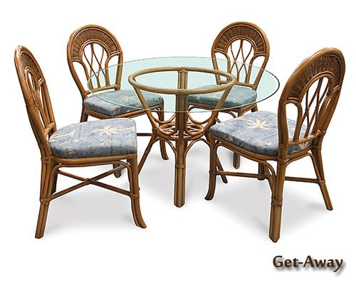 Get Away Wicker Dining Room Set | Beachcraft Furniture Dining Room Series  9064