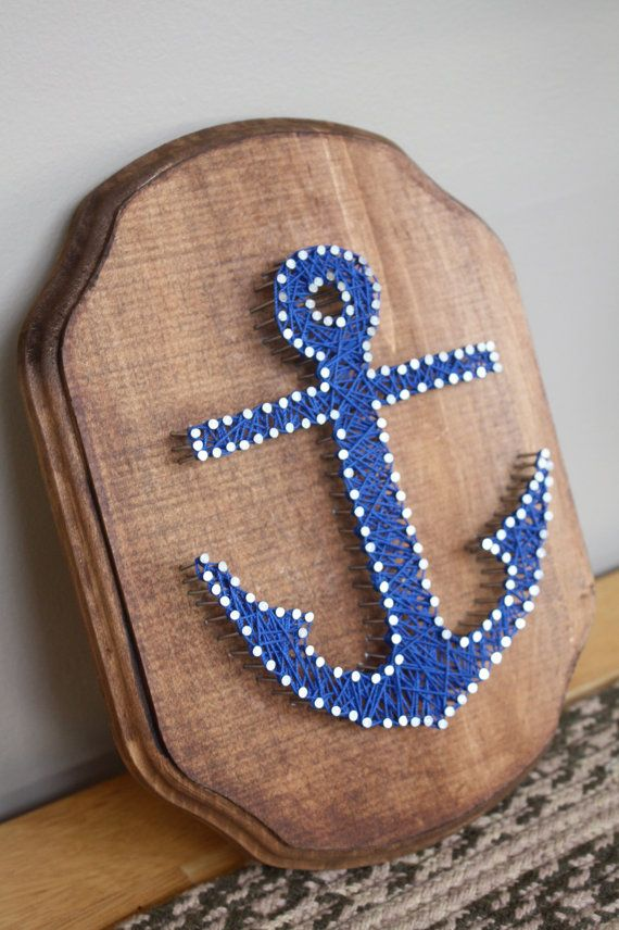 Nautical Anchor String Art by erinelysedesigns on Etsy, $30.00