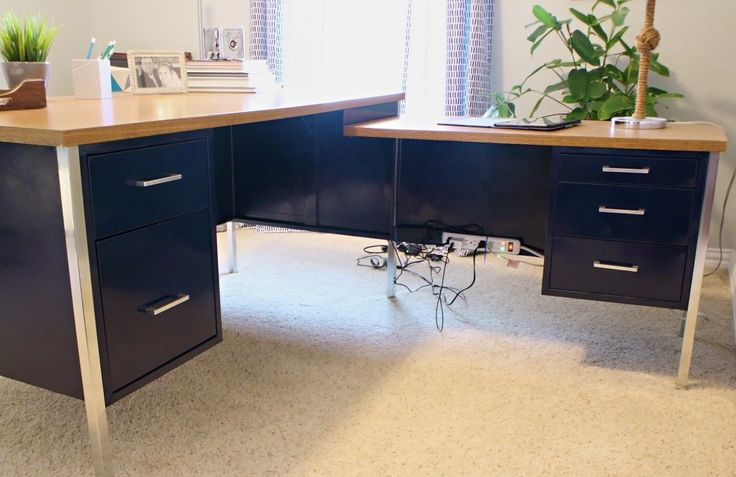Mid Mod Inspirations: Mid Century Metal Desk Makeover