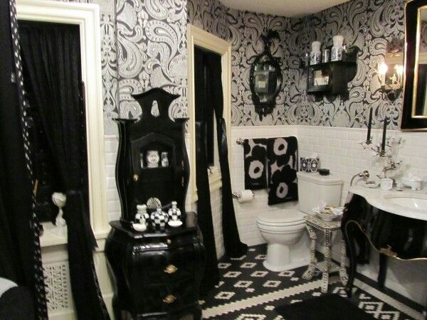 Bathroom Decor Black And White best 25+ gothic bathroom decor ideas on pinterest | gothic