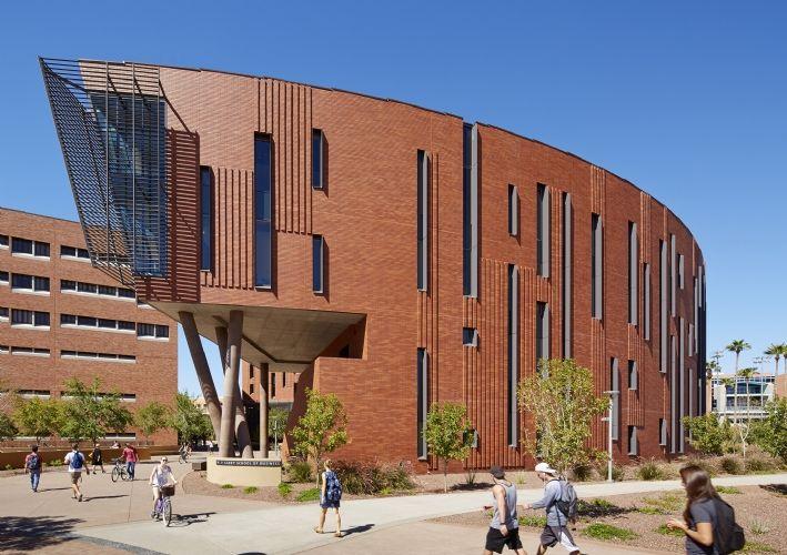 McCord Hall at the W. P. Carey School of Business, Arizona State University in Tempe, AZ by Kohn Pedersen Fox Associates