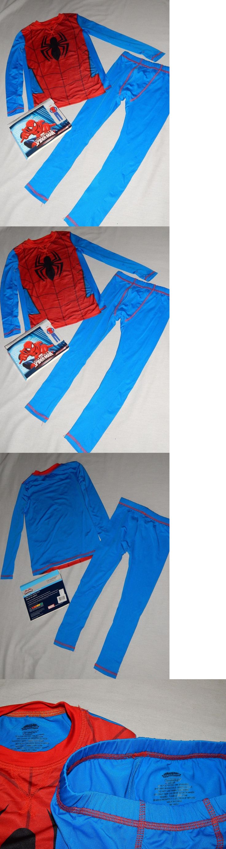 Underwear 51973: New Ultimate Spiderman 2 Pc Set Kids Boys Baselayer Shirt Pants Outfit Underwear -> BUY IT NOW ONLY: $30.99 on eBay!