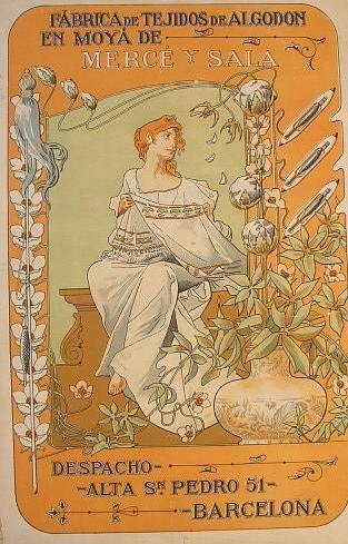 Cartel Art Nouveau publicitario de 1903  #lagalatea www.lagalatea.es #artnouveau