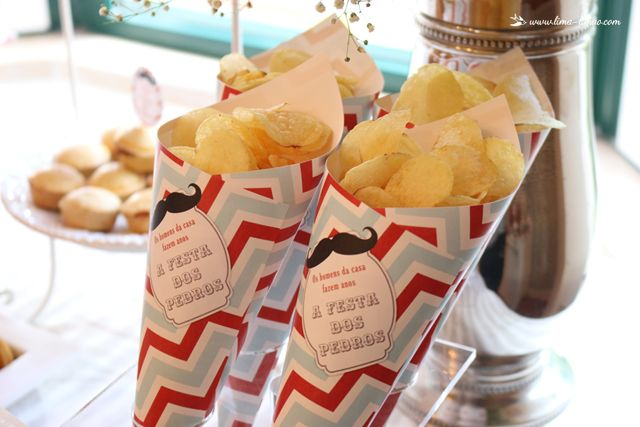 chips for this moustache/man themed party