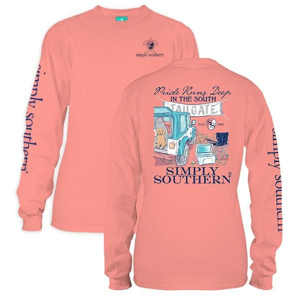Simply Southern Pride In The South Tailgate Long Sleeve T-Shirt