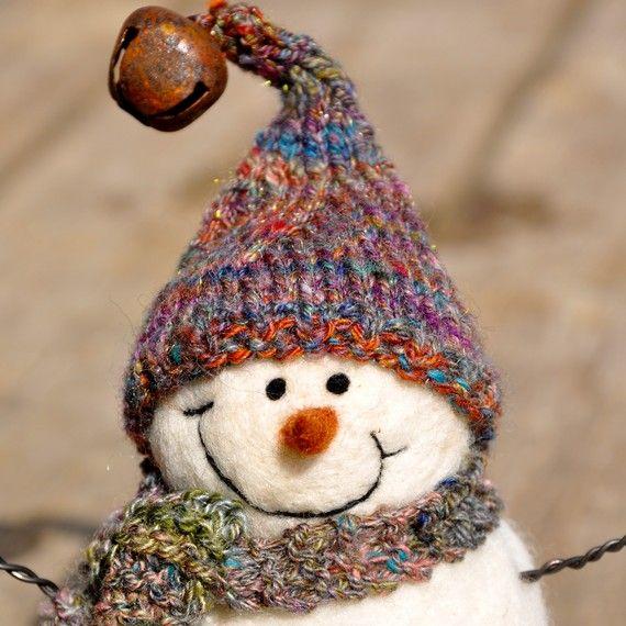 Christmas Snowmen, Needle Felted Snowman 8