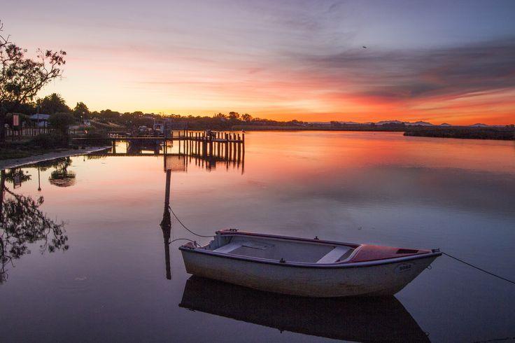 Sunrise at Velddrif. West Coast, South Africa.