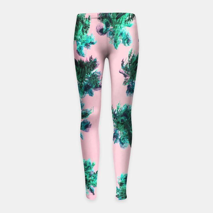 Palm Trees Girl's Leggings, Live Heroes