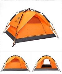 Cheap 4 Man Tent Best Deals Camel Backpacking 4 Season Compact Tent Double Layer Rainproof 3 Second Setup DHL Freeshipping