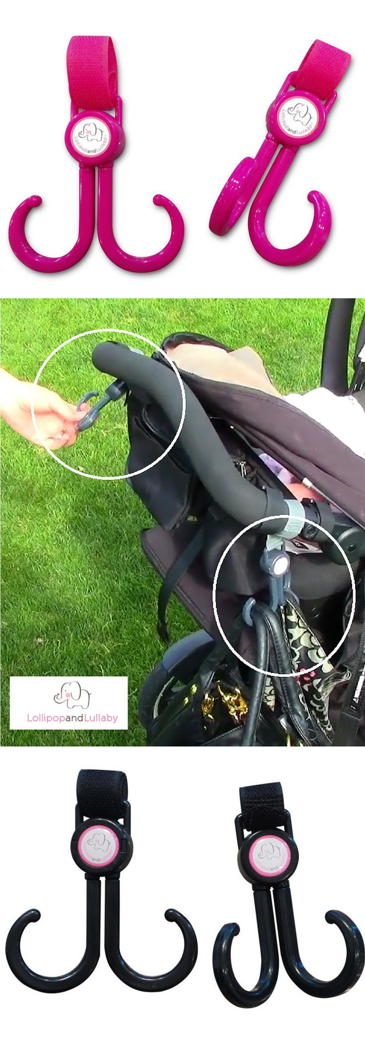 Grab Your Free Baby Stroller Hooks at http://lollipopandlullaby.com/collections/all-products/products/stroller-hooks-2-set-pack. If you're tired of lugging around diaper bags, or you just don't have the space under you baby stroller, then these hooks are ideal for you. Each hook carries 11lbs each. Make your life easier and lighter with The Dream Baby Stroller Hooks. You can grab your free pair today by using discount code STROLLERHOOKFREE. Limited quantities until January 31st, 2016.