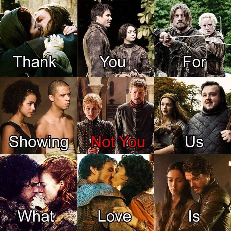 Game of Thrones, Thank you for showing us what love is (not you Cersei and Jaime).